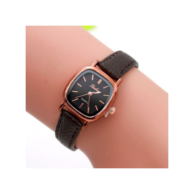 78bb10b90 Fashion Women Leather Band Analog Quartz Movement Wrist Watch Waterproof
