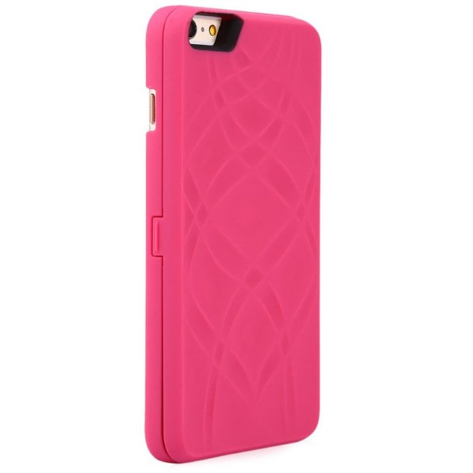 wholesale dealer 25396 4a807 OR Creative For Iphone Mobile Phone Wallet Mirror Shell Card Bracket-Rose  Red-for IPhone 7