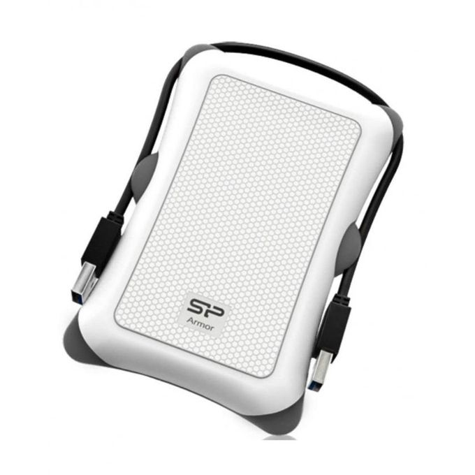 2TB - Armor A30 USB 3.1 Portable Shockproof Hard Drive - White