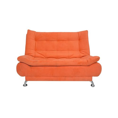 3 Seaters Velvet Sofa Bed   190x120 Cm   Orange
