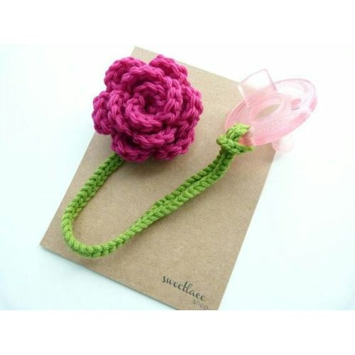 Sale On Crochet Flower Pacifier Clip Jumia Egypt