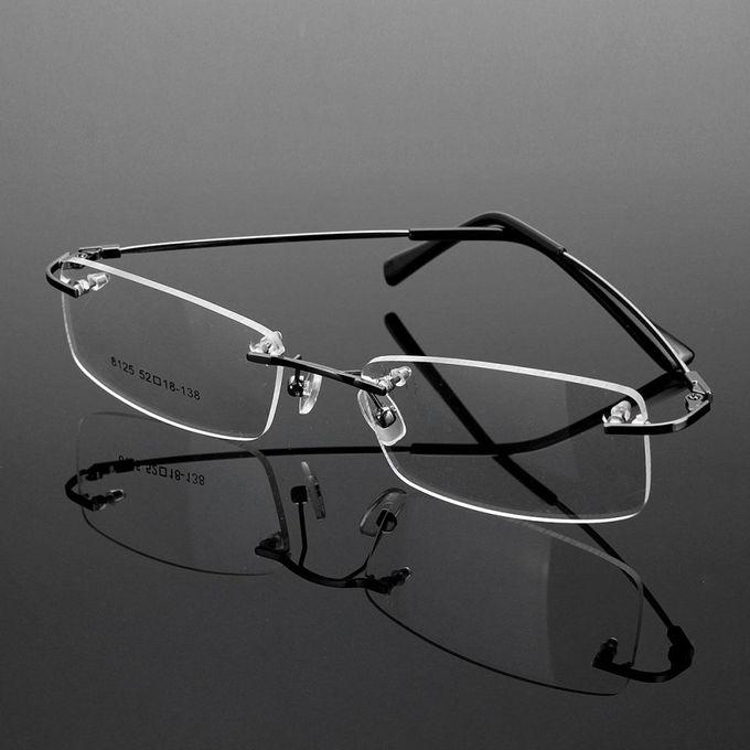 df434a6bcc9d Rimless Glasses Lightest Rx Optical Eyeglasses Memory Titanium Spectacles  Frame Gray