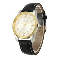 dd63785bb YAZOLE 348 Luxury Classic Men Quartz Wristwatches Fashion Leather Strap  Band Bracelet Watch Male Waterproof Sport