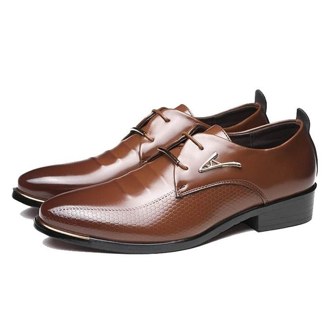 Sale On Men Business Dress Formal Leather Shoes Flat Oxfords Lace Up