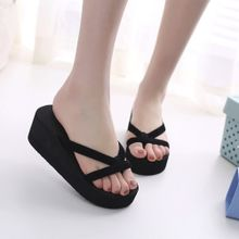 019861e69b529 Xiuxingzi Women  039 s Summer Fashion Slipper Flip Flops Beach Wedge Thick  Sole Heeled