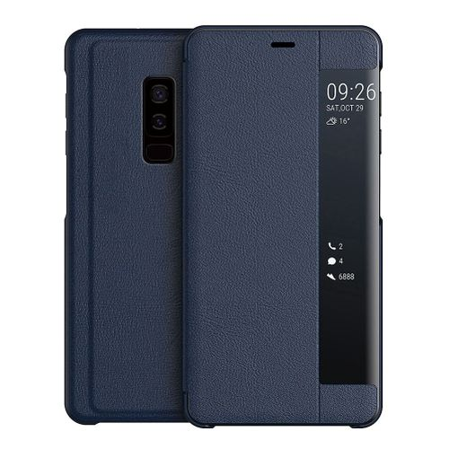 buy online ecd28 ad8c2 Galaxy S9+ Case,Smart Window Touch Flip Case/Magnetic Closure/PC Bumper/360  Degrees Protection Cover for Samsung Galaxy S9+/Galaxy S9 Plus 6.2