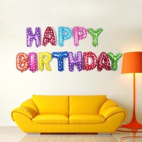 Happy Birthday Balloons - 16 Inch - 40 Cm