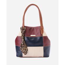 b274440f9559 Stitched Leather Women Handbag - Multicolour