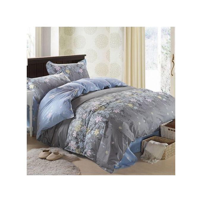 King Size Flower Pattern Bedding Sets Pillowcase Quilt Duvet Cover –  مصر