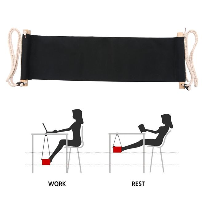 Portable Adjustable Mini Office Foot Rest Desk Feet Hammock –  مصر
