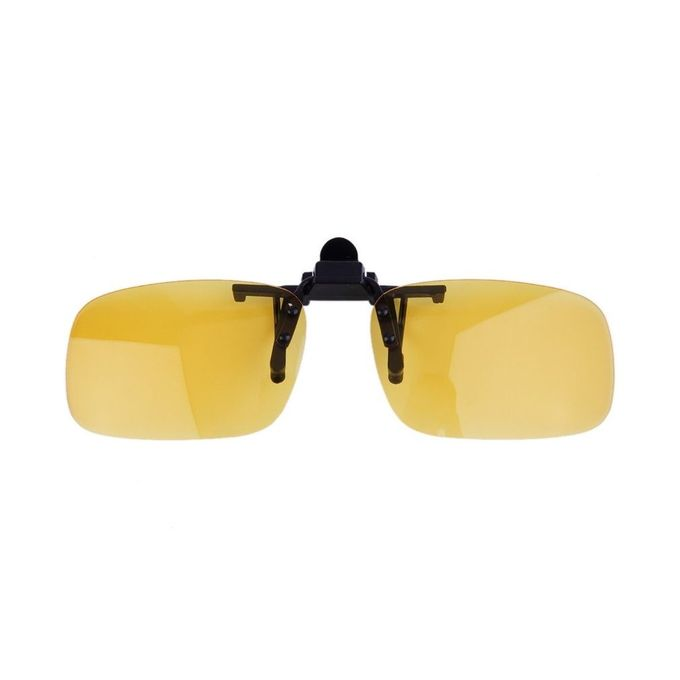 dec320de18d5 Driving Night Vision Clip-on Flip-up Lens Sunglasses Glasses Cool Eyewear  Night Vision