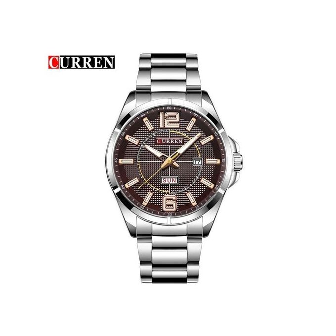 15490ee6d Curren 8271 Original Men's Stainless Steel Date Multi function Watch -silver