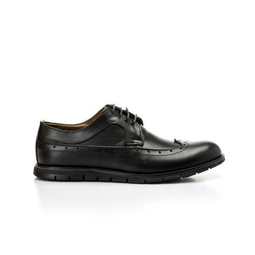 Classic Leather Lace Up Shoes - Black