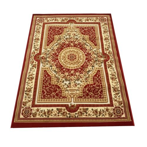 Panorama Machine Woven Rug- Red with multicolour