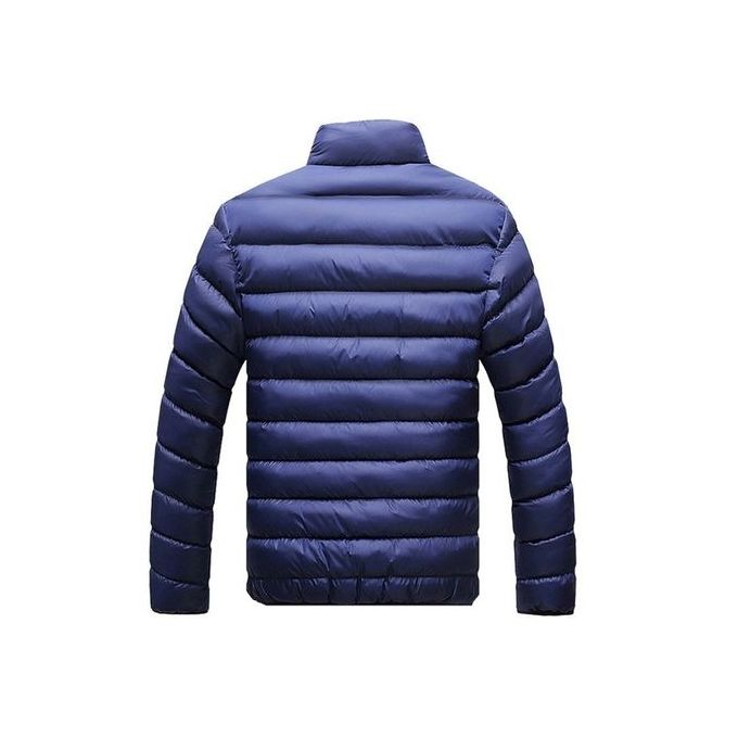 c80c981e5 Fashion Dark Blue New Fashion Men's Winter Warm Jacket Slim Casual Solid Coat  Cotton-padded Jacket Parka Overcoat Thick Coat Men Down Parkas