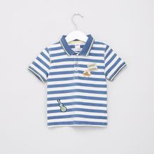 a1f6c3df49fd Children Striped Short Sleeves Polo Neck T-Shirt - DARK BLUE