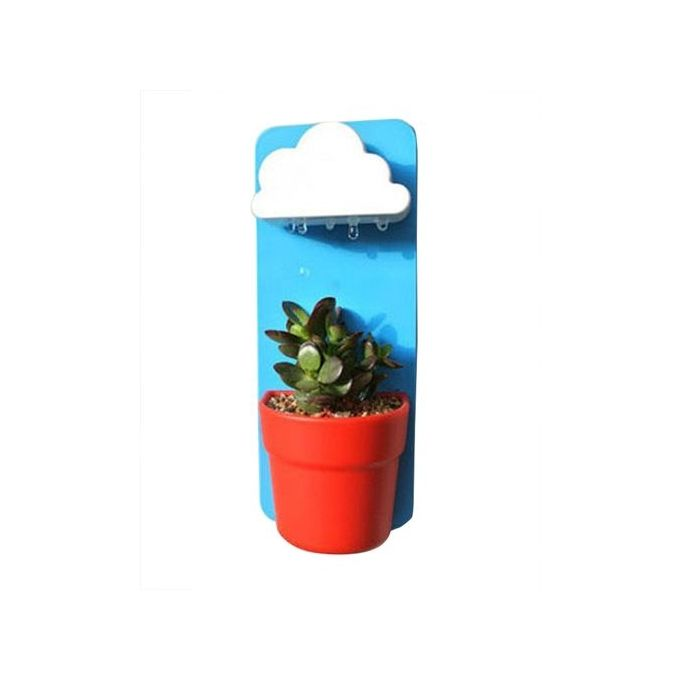 Mini Cloud Rainy Hanging Flower Pot For Soil Seed Home Balcony Decoration – Blue –  مصر