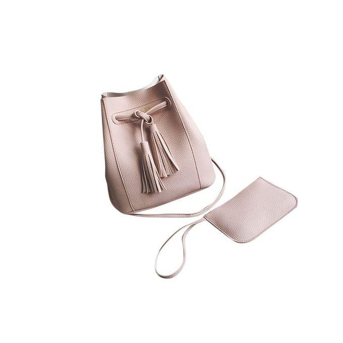 5ed284256293 Women Messenger Shoulder Bag Leather Satchel Clutch Tote Handbag Purse Pink
