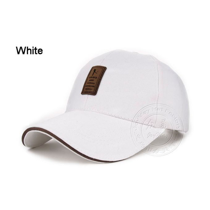 Retail Wholesale GOOD Quality New Cap Baseball Cap Snapback Hat Cap Fitted  Hats For Men And Women B253(White)