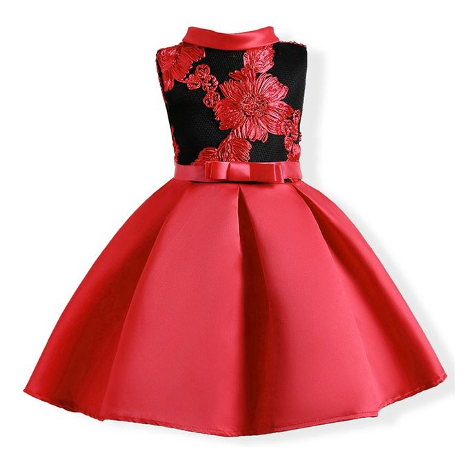 f09a2f8c266 Child Girls Princess Dress Kids Party Flowers Embroidery Wedding Formal  Dresses