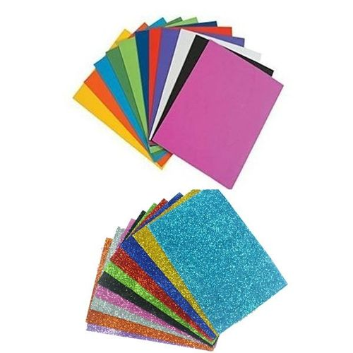 Sale on Generic A4 Colored & Glittered Foam Sheets Pack - 10 Sheets ...