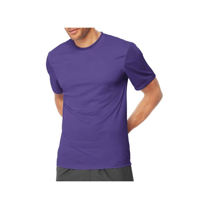 Hanes Sport Mens Heathered Performance T-Shirt [Purple, X-Large]