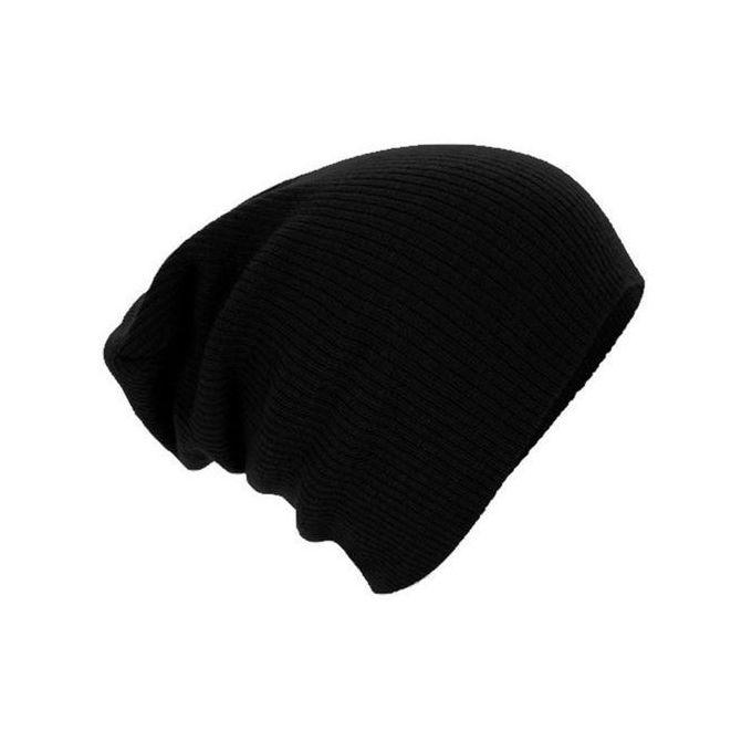 5e5fec8e387ed NEW Unisex Men Women Warm Winter Beanie Cap Oversize Knit Ski Slouchy Baggy Hat  Black