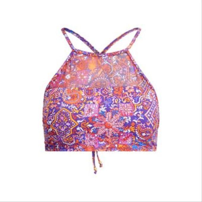Lauren Ralph Lauren Tropic Palm Printed Halter Bikini Top