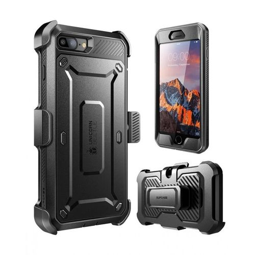 various colors bae52 9daaf Unicorn Beetle Rugged Holster Case PC And TPU Hybrid Shell - For IPhone 8  Plus/ IPhone 7 Plus - Black