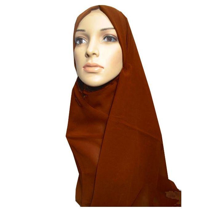 حجاب من الشيفون - 70 × 175 سم - كافية