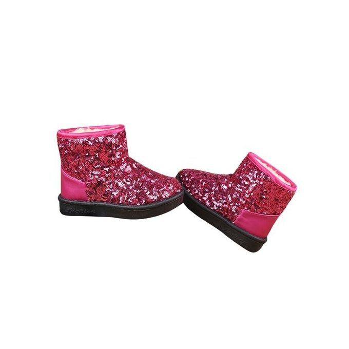 c69e95cf87d62 ... Infant Toddler Baby Girls Sequins Boots Boys Kids Winter Thick Snow  Boots Shoes- Hot Pink