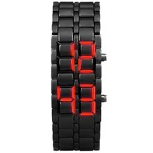 7c377c725 Xiuxingzi New Iron Samurai Metal Bracelet LAVA Watch LED Digital Watches Hour  Men Women