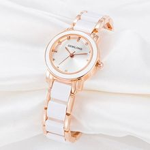 2cc50c332 ASJ Waterproof Lady Quartz Watch Imitation Porcelain Particles Not Oxidize  Rose Gold