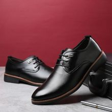 bc23a6a4a 2018 Men's Classic Lace Up Leather Formal Shoes Men Genuine Leather  Casual