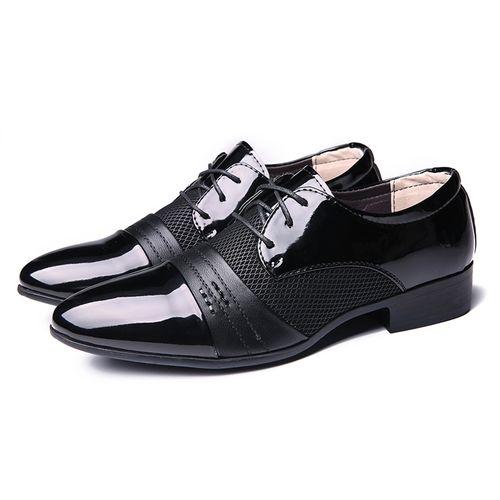 رجال الأعمال أوكسفورد الجلود اللباس الرسمي أحذية عادية المتسكعون الأسود