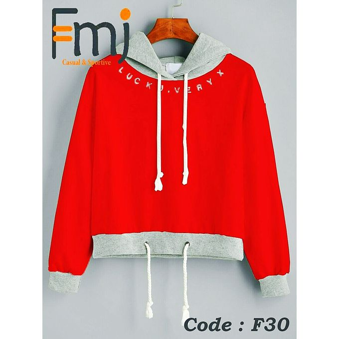 new product 49d52 f542d Stylish Sweatshirt Material Cotton Full Licra Red.grey Colour