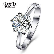 efe42f969beba خاتم الماس الإناث ستة مخلب محاكاة خاتم الماس زوجين زوج خاتم النسخة الكورية  من افتتاح قابل