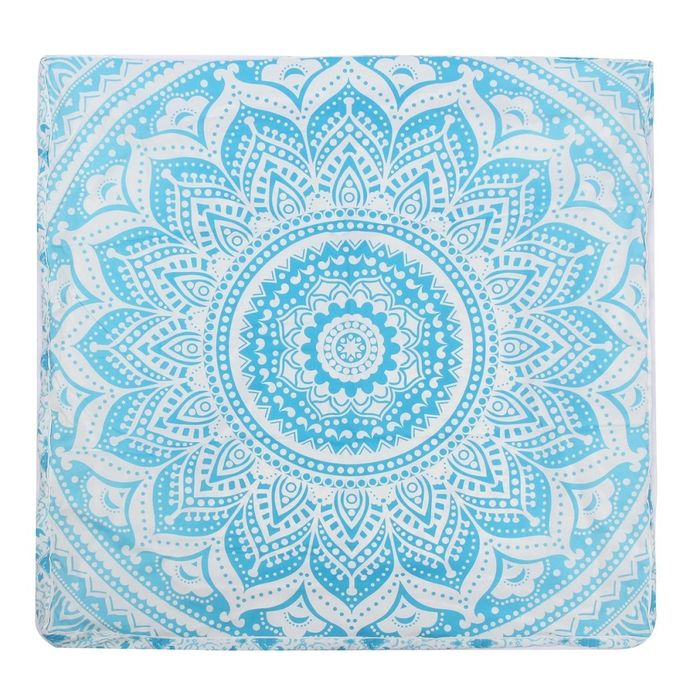 90*90*15cm Mandala Indian Blue Square Cushion Floor Throw Pillow Pouf Cover 35′ –  مصر