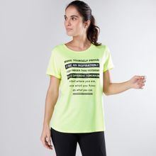 e4a09cce4156a Ladies Printed Oversized T-Shirt with Backstrap Detail - LIGHT YELLOW