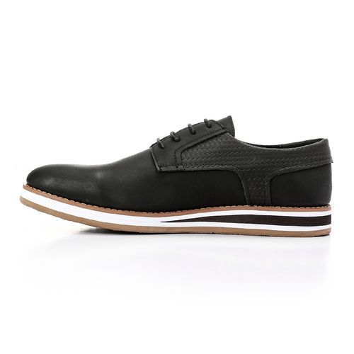 Casual To Formal Smart Men Shoes - Black