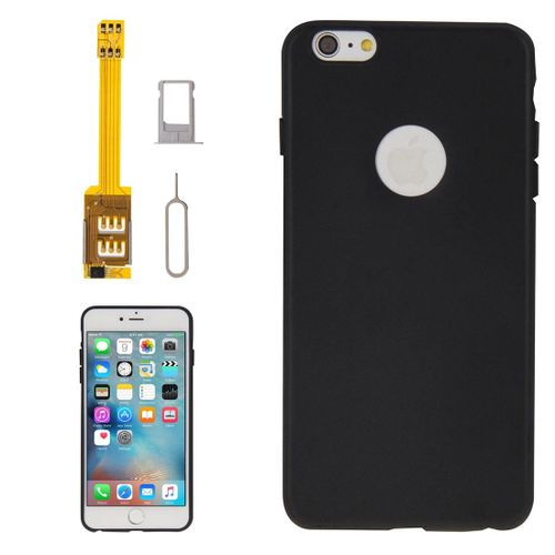 best service f0dbc c0042 4 In 1 (dual Sim Card Adapter + Tpu Case + Tray Holder + Sim Card Tray  Holder Eject Pin Key) For Iphone 6s Plus