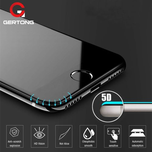 best website 3fa81 3aa97 5D Curved Edge Full Cover Screen Protector For IPhone 6 7 6S Plus Tempered  Glass For IPhone 8 Plus X XR XS Max Toughened Film(Color Black)