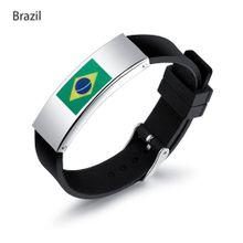 66ba8ea34eb4e 2018 Football World Cup Flag Pattern Sports Bracelet Men Fans Personality  Wrist Ornament