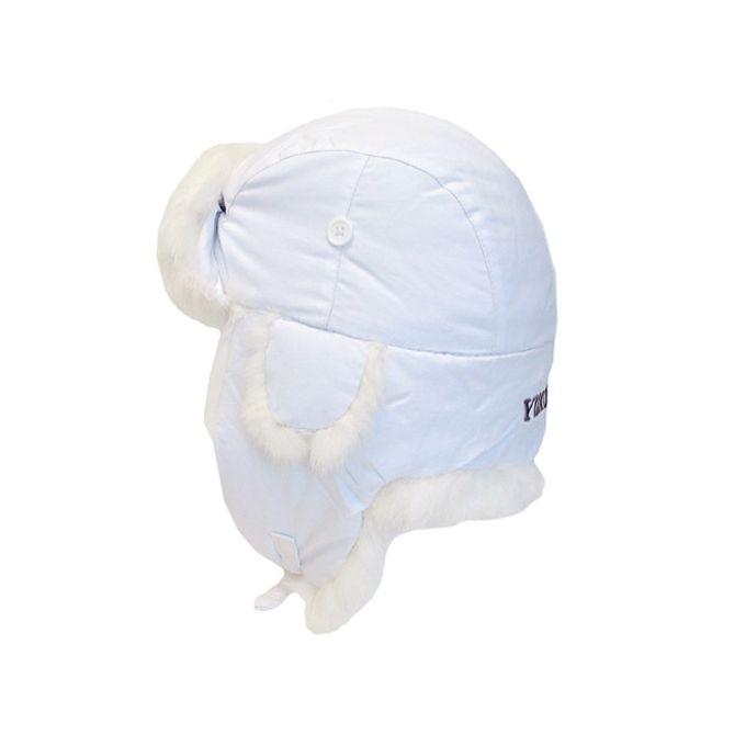 Yukon Tracks Alaskan Taslan Fur Hat [White, Medium]