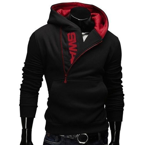 5816cf260 Fashion Male Fleece Sweatshirts - Red+Black
