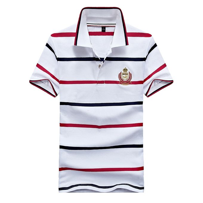 70175356 Men's Polo Shirts Business Men Brands Polo Shirts 3D Embroidery Turn-down  Collar Mens Polo