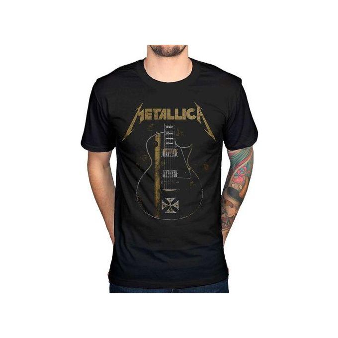 10ab33c4 Fashion Men's Metallica James Hetfield Iron Cross T-shirt Heavy Metal  Thrash Band Cotton Mens