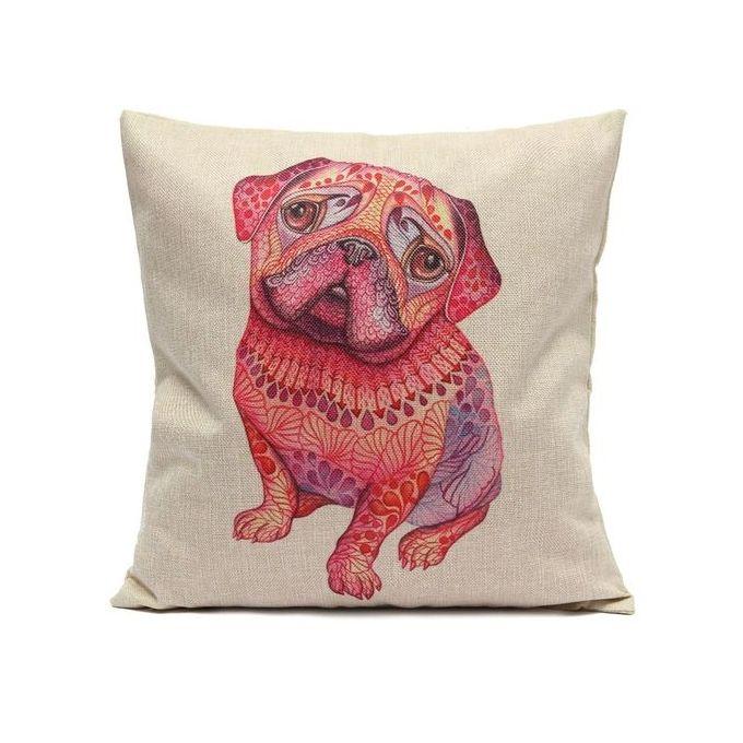 45X45cm Cute Pekingese Pillow Case Cotton Linen Cushion Cover Square Sofa Home Decor –  مصر
