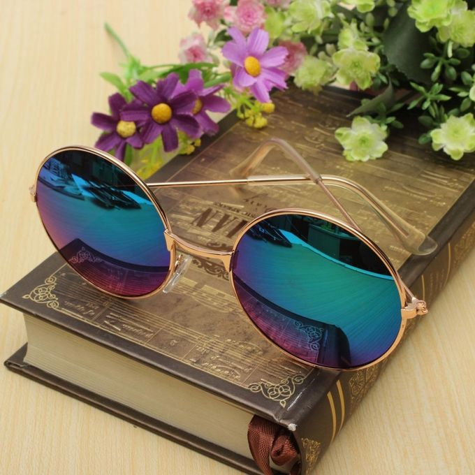 ... Retro Vintage Men Women Big Round Metal Frame Sunglasses Glasses Eyewear Fashion ...