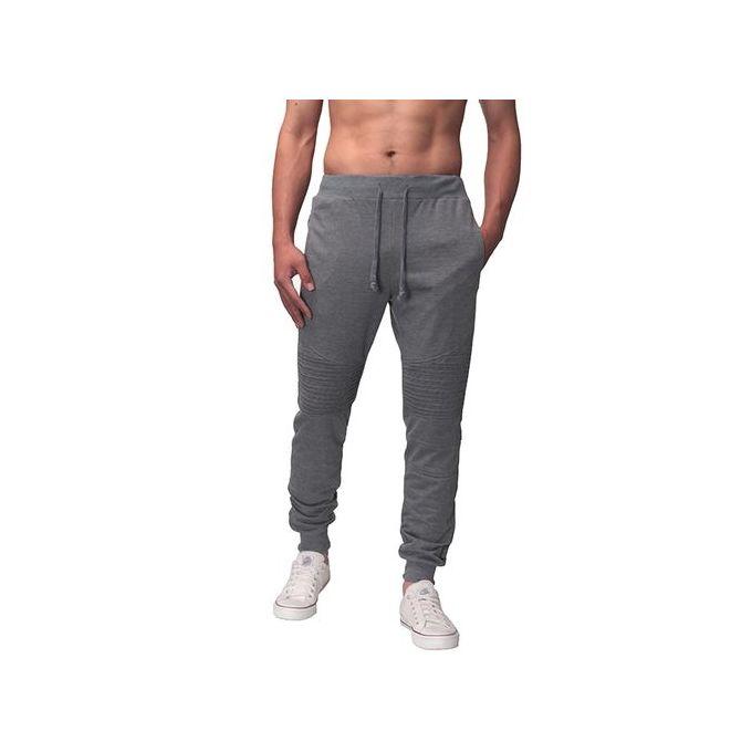 Mens Elasticated Waist Jogging Fleece Bottoms Pants Gym Casual S-XL